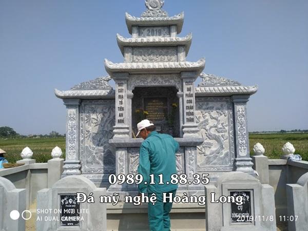 Mẫu lăng thờ chung bằng đá đẹp nhất tại Bình Định