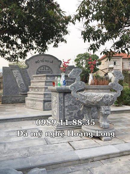 Mộ tổ họ Lê bằng đá lắp tại Đà Nẵng