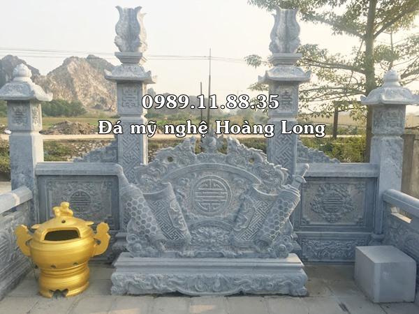 Bức bình phong đá đặt tại khu lăng mộ