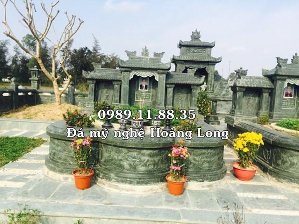 Làm lăng mộ gia đình bằng đá xanh rêu tự nhiên