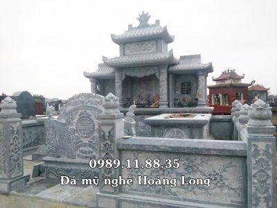 Lăng mộ đá xanh khối tại Thái Bình