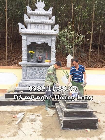 Lắp đặt lăng thờ chi họ Phạm tại Tuyên Quang