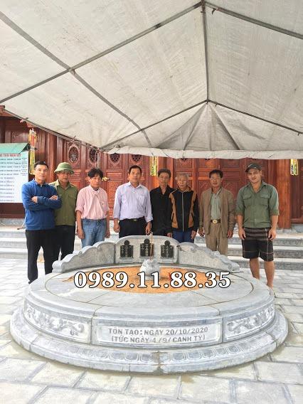 Lắp đặt mộ đá tròn tại Quốc Oai, Hà Nội