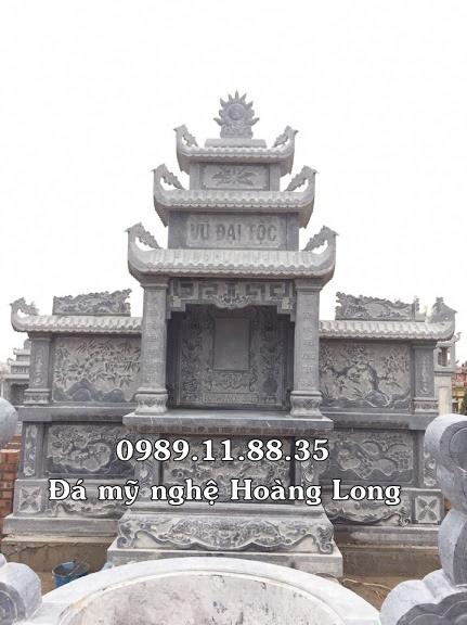 Mẫu lăng thờ chung bằng đá