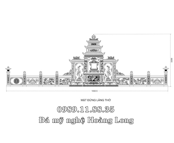 Mẫu thiết kế khu lăng mộ