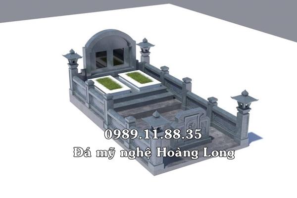 Thiết kế mộ đôi bằng đá