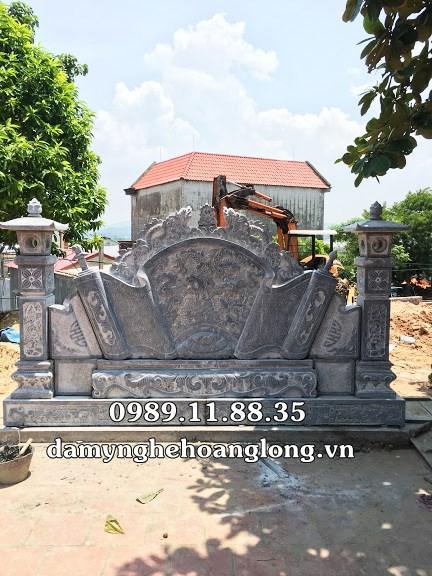 Bình phong đá đình chùa tại Bắc Ninh