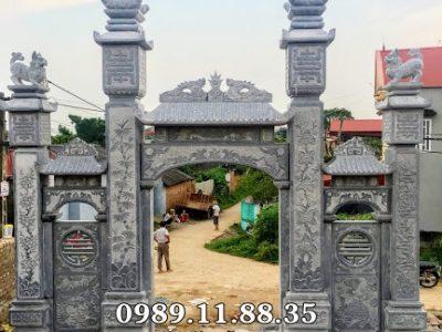 Làm cổng tam quan đá tại Bắc Ninh