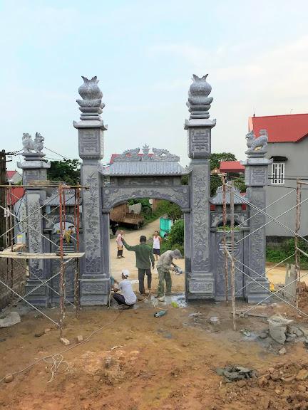 Xây dựng cổng đá tự nhiên