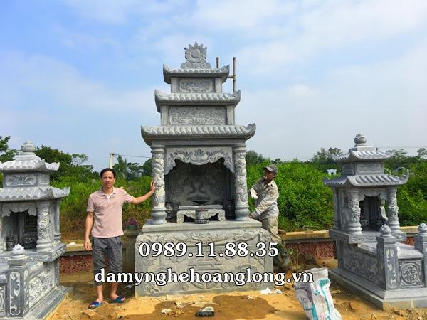 Xây dựng lăng mộ đá tại nghĩa trang Chi Nê