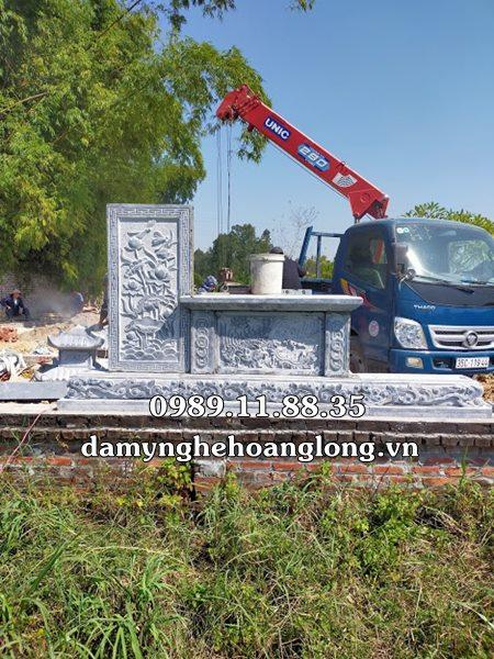 Lắp đặt lăng mộ đá