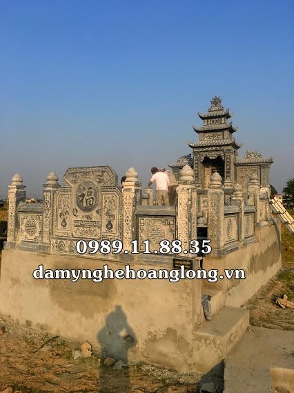 Lắp đặt lăng mộ dòng họ bằng đá tại Bắc Ninh