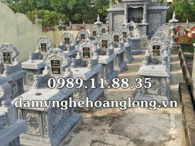 Mẫu lăng mộ bằng đá xanh đen tại Hải Dương