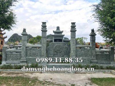Lăng mộ đá xanh rêu làm tại Hà Tĩnh