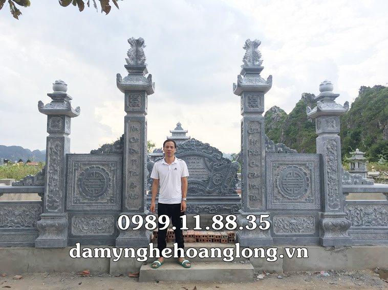Lắp đặt khu lăng mộ đá đẹp tại Vĩnh Phúc