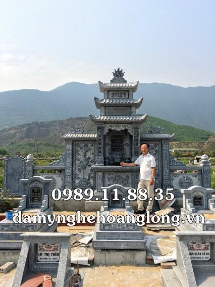 Lắp đặt lăng mộ bằng đá tại Hà Tĩnh