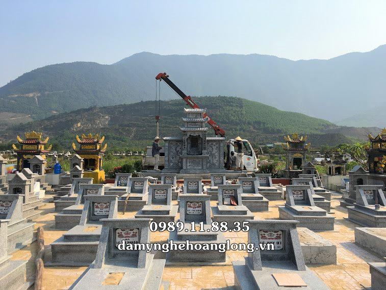 Lắp đặt lăng mộ đá dòng họ Hà Tĩnh