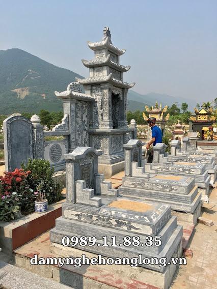 Mẫu khu lăng mộ đá đẹp tại Hà Tĩnh