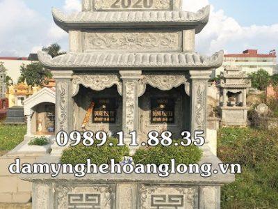 Làm mộ đôi bằng đá nguyên khối tại Đà Nẵng